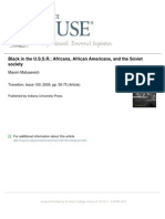 Black in the U.S.S.R. Africans, African Americans, And the Soviet