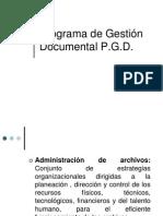 Pgd-presetnacion Programa de Gestion Documental