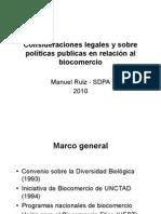 Consideraciones legales y políticas públicas.SPDA M