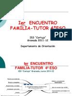 Ier  ENCUENTRO FAMILIA-TUTOR4ºESO.Teresa.Oct2011