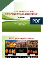 Agenda nacional de investigación e innovación en biocomercio. Miguel Ayquipa