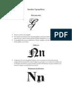 Tipografía clasificación