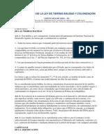 CODIFICACIÓN DE LA LEY DE TIERRAS BALDÍAS Y COLONIZACIÓN