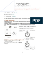 Answering Questions Technique Physics SPM Paper 3