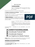 Direito Constitucional - Controle de Constitucionalidade