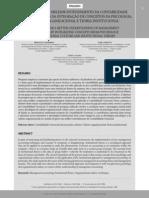 Em busca de um melhor entendimento Da Contabilidade Gerencial Através da integração de conceitos da pscologia, cultura organizaciomal e teoria institucional