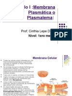 Memb. plasmática y mec de transporte