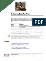 Configuring Cisco Fax Relay