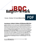 Social Media & Digital Branding Course for Rutgers SBDC