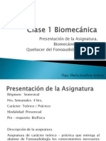 Clase 1 Biomecánica