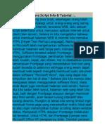 Java Script Info