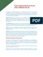 DIAGNÓSTICO PEDAGÓGICO EN EL NIVEL PREESCOLAR