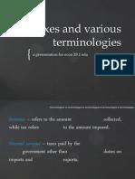 econ 20.1 eda Taxes and Various Terminologies