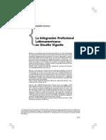 R Martinez - Integracion Prof Un Desafio