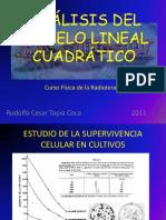 ANÁLISIS DEL MODELO LINEAL CUADRATICO