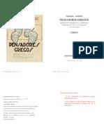 Theodor Gomperz - Pens Adores Griegos (Libro 1)