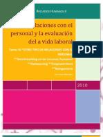 T10. Relaciones con el personal y evaluación