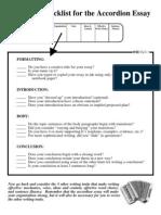 Accordion Essay Checklist