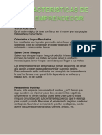Características de un emprendedor