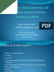 The Edge Characteristics of Successful Urban Charter School Leaders June 21
