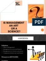 Is Management an Art or a Science 1