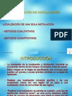 1.1 Localizacion de Instalaciones