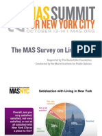 MAS Livability 2011 Survey for New York City - Presentation