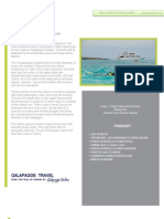 """Journey I 8 day Galapagos Cruise Itinerary departing  Friday """"A"""""""
