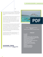 Journey I 11 day Galapagos Cruise Itinerary departing Tuesday