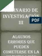 ERRORES DE INVESTIGACIÓN