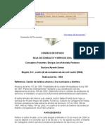 Cesión de baldíos urbanos a los municipios y distritos.CONSEJO DE ESTADO SALA DE CONSULTA Y SERVICIO CIVIL