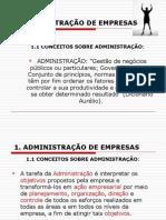 Fundamentos da Administração Aula 1