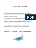 Reusing and Recycling Lexmark Products