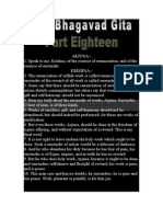 THE BHAGAVAD GITA PART EIGHTEEN