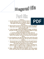 THE BHAGAVAD GITA PART SIX