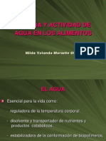 El Agua y Actividad Del Agua en Los Alimentos-2010