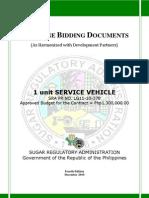 PBD Service Vehicle