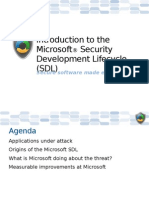 Introduction to the Microsoft Security Development Lifecycle (SDL)