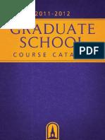 Umhb Graduate Catalog 2011-2012