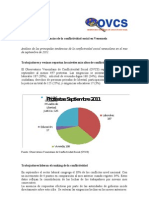 Tendencias de la Conflictividad Social en Venezuela Septiembre 2011