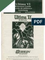 Ultima VI - Referece Guide - Commodore 64