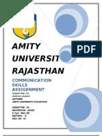 Cammunication Skills Assigenment