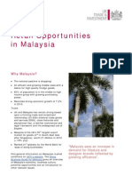 Retail Opportunities in Malaysia