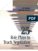 25 Role Plays to Teach Negotiation
