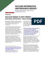 Nuclear Energy is Dirty Energy