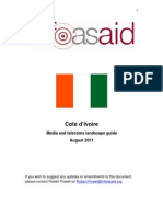 Cote d'Ivoire Media and Telecoms Landscape Guide Updated August 2011