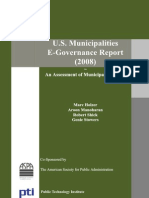 U S Municipalities E-Governance Report 2008