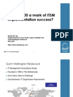 Is ISO20000 a Mark of ITSM Success