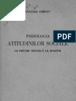 Psihologia atitudinilor sociale  cu privire specială la români