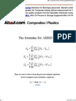 ABBD Matrix Definitions for Composite Laminates